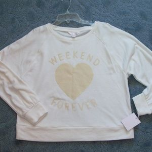 Lauren Conrad white sweater Size M (#EV669)
